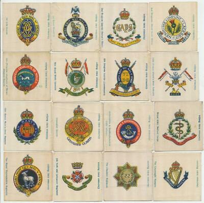 LEA, RJ - 1923 : Regimental Crests & Badges (Silk) (25) Cigarette Cards