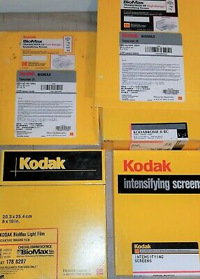 Scientific Imaging Paper Lot Kodabrome, Intensifying Screens, Biomax Light Film