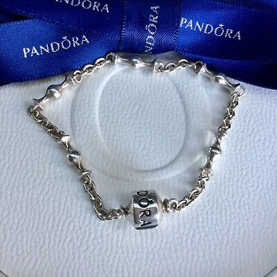 7819b0ff5 Authentic Genuine Pandora Silver Five Clip Station Bracelet 17.5cm #591704