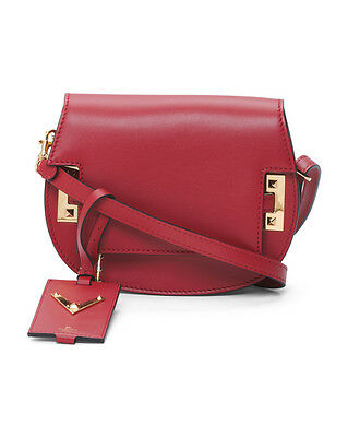 c9e22ca5c3d NWT Valentino Made In Italy Red Rockstud Leather Saddle Bag  1895 Sold out!