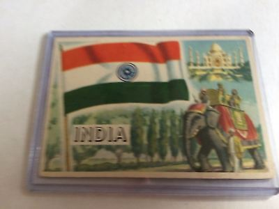 Topps Flags Of The World 1956 VG India #34
