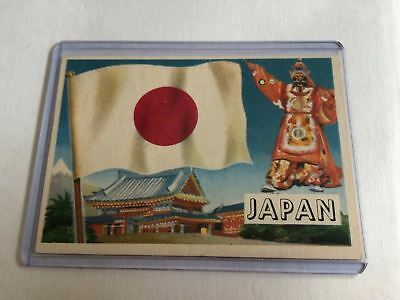 Topps Flags Of The World 1956 VG Japan #36