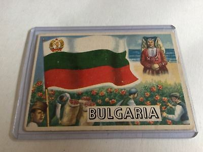 Topps Flags Of The World 1956 VG Bulgaria #28