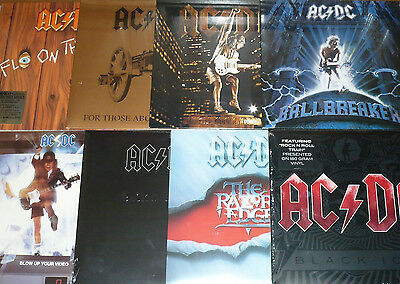 Ac/dc - 180 Gram - Remastered - 8 Album Vinyl Bundle + 90 Tracks + Photos + More