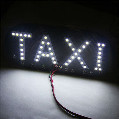 Taxi Cab Windscreen Windshield Sign White LED Taxi Light Lamp Bulb Nice XDUK