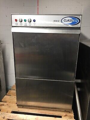 Classeq Eco 2 Commercial Glass washer - 400 x 400 Basket - Pumped Waste