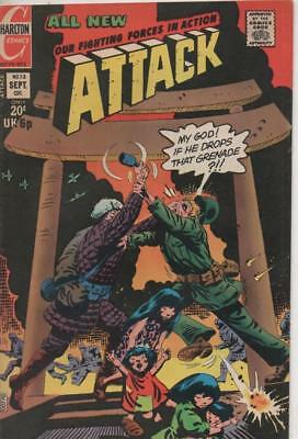 Attack #13 (Charlton) September 1973 Very  Fine conditon