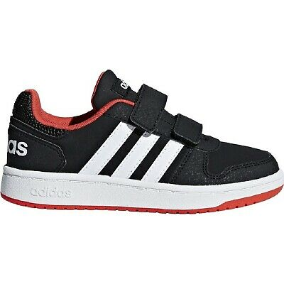 wholesale dealer aabfe 2ae6f ADIDAS HOOPS 2.0 NERO Sneakers Bimbo Strappo Scarpe Bambino Tennis B75960