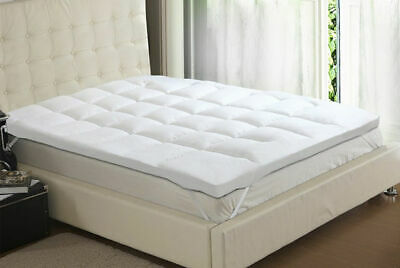 Mattress Topper 7 CM Deep Luxury Comfy Microfiber Soft Hotel Home Bed Topper