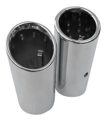 2x Premium Stainless Steel Tail Pipes Genuine Quality Size / Kl 2 5/8-2 7/8in
