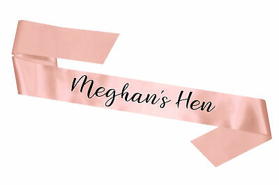 Rose Gold Luxury Hen Party Sash Personalised Hens Bride to Be Instagram Favours