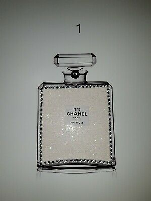 Chanel Inspired Glitter And Gem Picture Bling Wall Art Poster Perfume