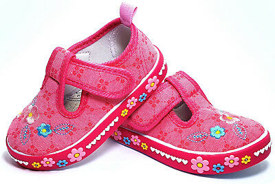 AMERICAN CLUB Girls Kids TODDLER Canvas shoes 7 UK Real Leather insole TRAINERS