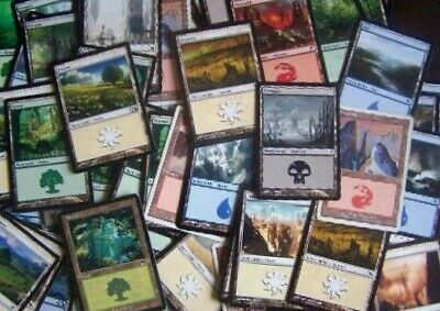 Mtg: Lote 50 Tierras Magic 10 Cartas De Cada Color. Lote. Envio Gratis