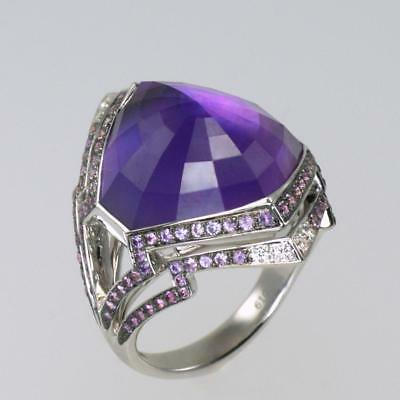 Stephen Webster Lady Stardust Amethyst & Diamond Ring 18ct Gold Cocktail Ring