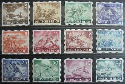 GERMANY Third Reich 1943 Armed Forces & Heroes Day Complete Set of 12 m/h