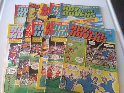 11x Roy Of The Rovers Comics 1983