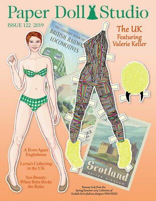 Paper Doll Studio Magazine Issue #122 featuring fashions and topics of the UK