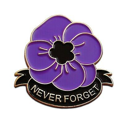 Large Purple Poppy Pin Badge Remembering The Animals of War Day Brooch 2019 Gift