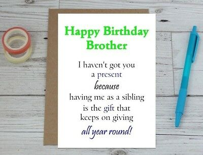 Funny Brother Birthday Card
