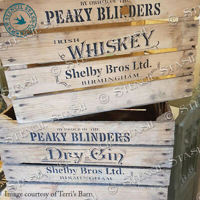 Peaky Blinders STENCIL Many Designs CRATE PANEL Wood Craft SUPERIOR 250 MYLAR