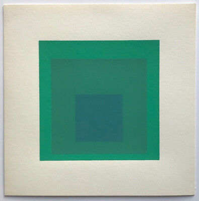 """Josef Albers Hommage to the Square 8"""" Green screenprint by Ives Sillman"""