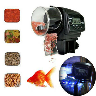 Adjustable Automatic Aquarium Timer Auto Fish Tank Pond Food Feeder Feeding YFUS