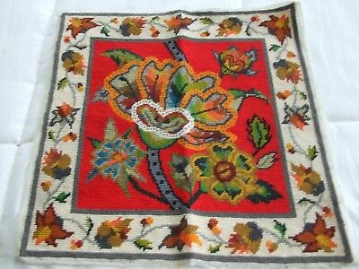 Lovely Floral Needlepoint In Vivid Colors