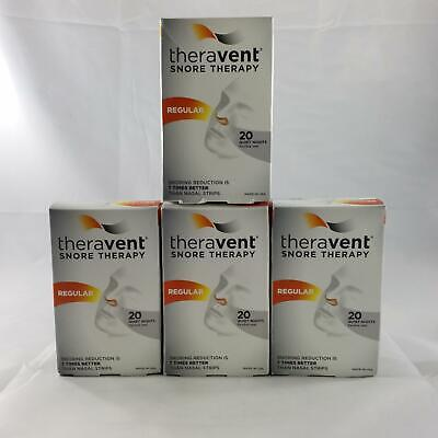 4-Pack! Theravent Snore Therapy - Regular 80 Single Use Devices Total! EXP 05/19
