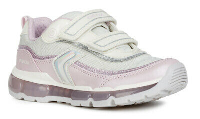 Geox J Bernie G D Girls Navy//Lilac Trainers 100/% Positive Reviews