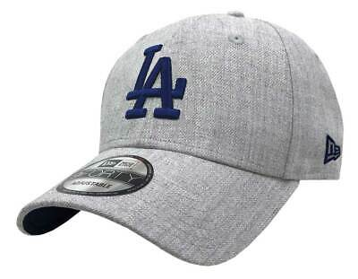 outlet store 20a21 6d84b New Era 2019 MLB Los Angeles Dodgers Baseball Cap Hat 9Forty Adjust Heather  Gray