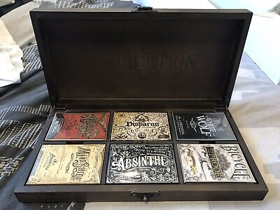 Ellusionist Prohibition V1 Rare Limited Edition Boxed Set Playing Cards 6 Decks