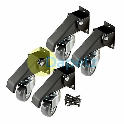 Workbench Caster Kit 4Pk 180kg (400Lb)Durable Steel Casters Screw Mounted