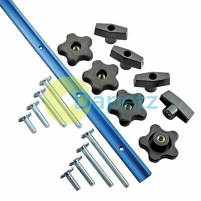 "Universal T-Track Set  With Unique Stacked Slot Design 17Pc 1219mm (4"") 679127"