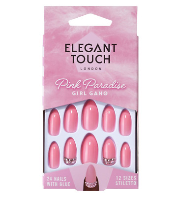 Nail Saviour Elegant Touch Rich Ebony False Nails Nail Care, Manicure & Pedicure