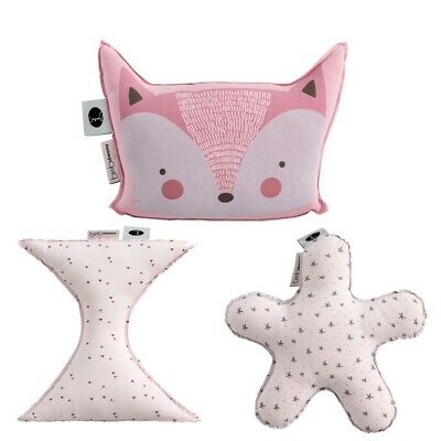 Set de 3 Cojines con Forma Fox - Colores - Blanco y Rosa