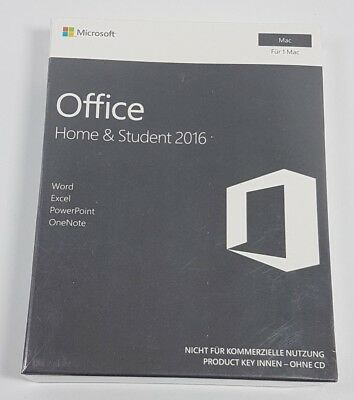 Microsoft Office: Home and Student 2016 Lifetime 1 User for Mac BRAND NEW