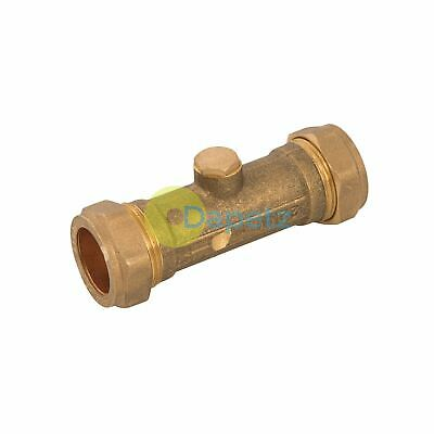 Double Check Valve  Brass Stainless Steel And Polymer One Way Valve 22mm