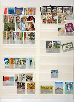 Greek Stamps Collection On Album Pages And Stock Cards