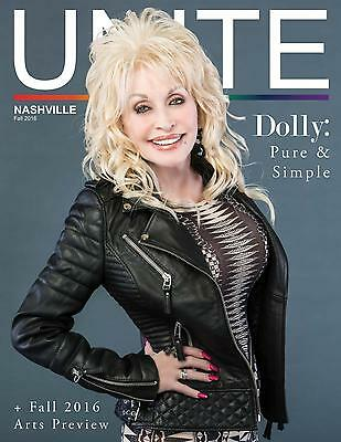 Dolly Parton Unite Magazine 2016 Issue Nashville Tennessee Pure & Simple Country