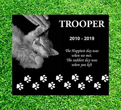 Personalized Pet Headstone, tombstone Laser Engraved, Grave Marker, non Granite