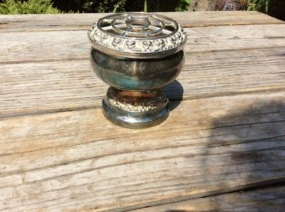 Small Silver Plated Posy Holder
