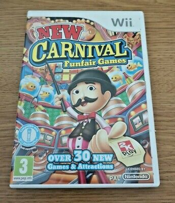 New Carnival Funfair Games COMPLETE Nintendo Wii Video Game FREE P&P