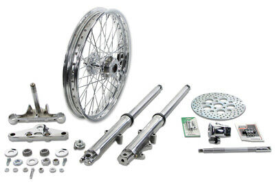 V-Twin Mfg 24-2044 Fork Assembly with Polished Sliders 21 Wheel