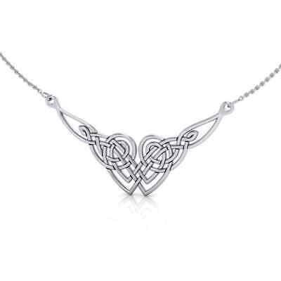 Celtic Knotwork .925 Sterling Silver Necklace by Peter Stone