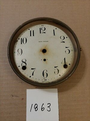 Seth Thomas Tambour Mantle Clock Dial And Bezel No Glass