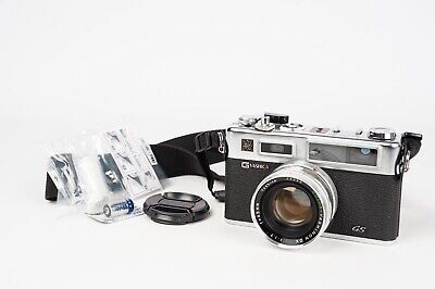 Yashica Electro 35 GS + Yashinon DX 45MM 1:1,7 - NEW SEALS + BATTERY ADAPTER