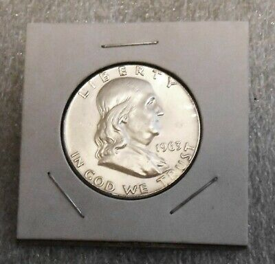1963 Franklin Silver Half Dollar 50 Cent  Us Mint 90% Silver Coin - In Coin Flip