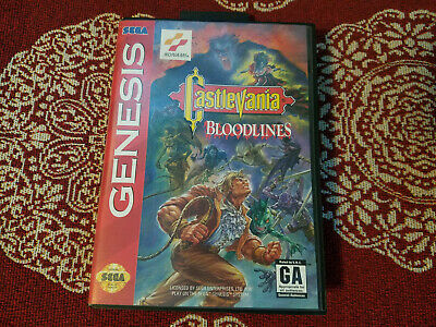 Castlevania Bloodlines - Authentic - Sega Genesis - Case / Box Only!