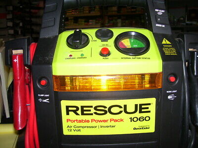 Rescue Portable Power Pack 1060 air compressor/ inverter 12v